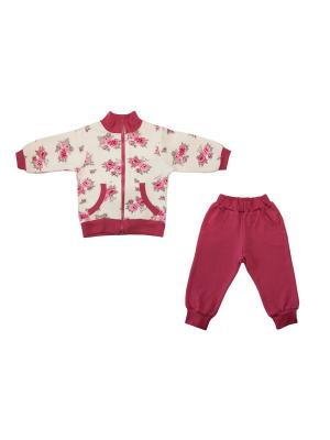 Спортивный костюм Жанэт. Цвет: бордовый
