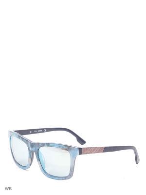 Солнцезащитные очки DL 0120 52B Diesel. Цвет: синий, голубой