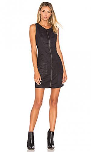 Мини платье из искусственной замши marceline BB Dakota. Цвет: черный