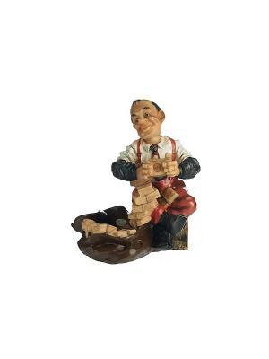 Пепельница Бухгалтер Elff Ceramics. Цвет: белый, коричневый, красный, черный