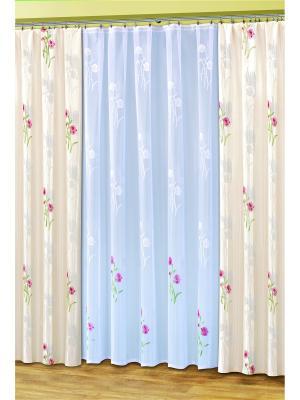 Комплект штор Haft. Цвет: бежевый