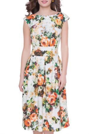 Платье Olivegrey. Цвет: зелено-оранжевый