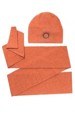 Комплект из шерсти с кристаллами Swarovski (шапка и шарф) 154754 Anna Jollini