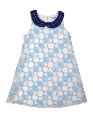 Платье MIMISOL. Цвет: небесно-голубой