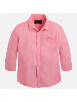 Рубашка Mayoral. Цвет: розовый