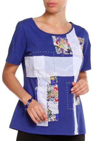 Блуза Paola Joy. Цвет: синий