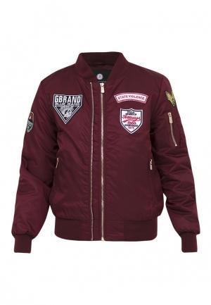 Куртка утепленная Jan Steen. Цвет: бордовый