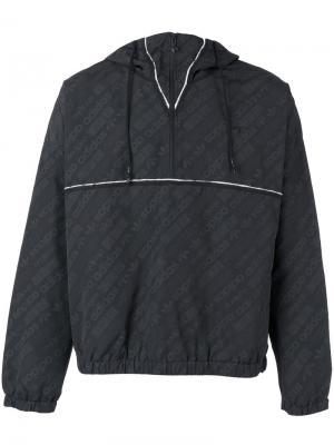 Ветровка с логотипами Adidas Originals By Alexander Wang. Цвет: чёрный