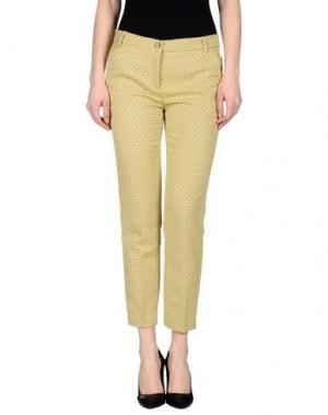 Повседневные брюки TWELVE-T. Цвет: желтый
