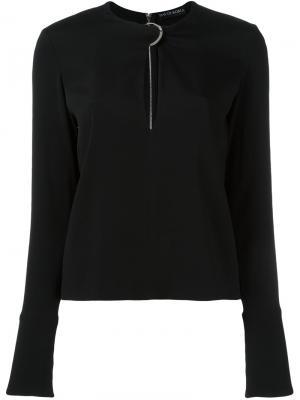 Блузка с вырезом замочная скважина David Koma. Цвет: чёрный