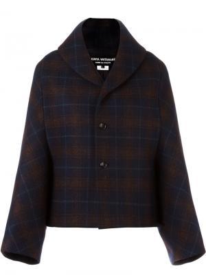 Куртка в клетку Junya Watanabe Comme Des Garçons. Цвет: синий
