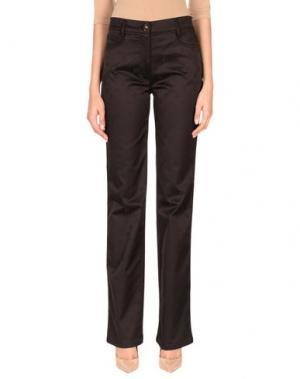 Повседневные брюки ROCCOBAROCCO. Цвет: темно-коричневый