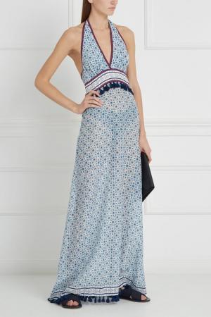 Платье из шелка и хлопка Talitha. Цвет: голубой, белый
