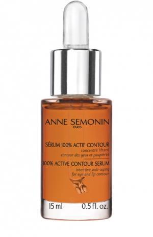 Антивозрастная сыворотка для кожи вокруг глаз и губ Anne Semonin. Цвет: бесцветный