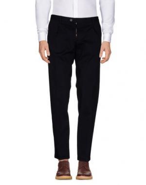 Повседневные брюки ROBERTO PEPE. Цвет: грифельно-синий
