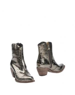 Полусапоги и высокие ботинки GIANCARLO PAOLI. Цвет: свинцово-серый