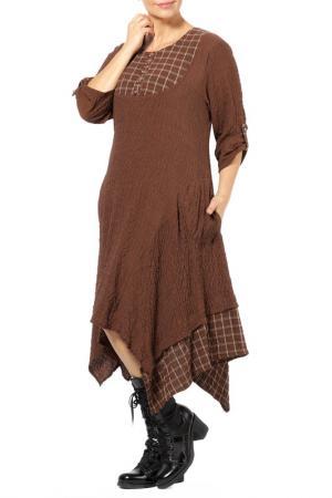 Платье Zedd Plus. Цвет: коричневый