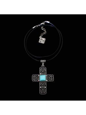 Колье Skifska Etnika Византийский крест. Цвет: серебристый