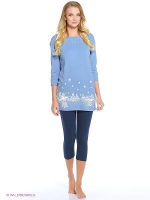 Пижама PELICAN. Цвет: голубой