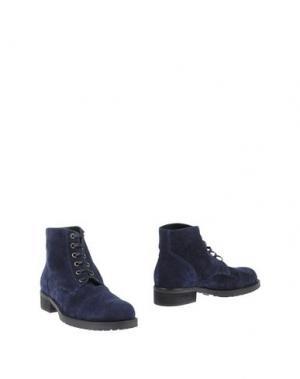 Полусапоги и высокие ботинки DEL GATTO. Цвет: синий