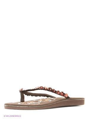 Шлепанцы Mon Ami. Цвет: коричневый