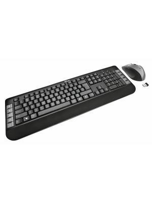 Клавиатура + мышь 18048 Trust Tecla Wireless Multimedia Keyboard&Mouse. Цвет: черный