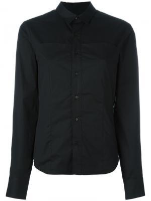Рубашка на пуговицах A.F.Vandevorst. Цвет: чёрный