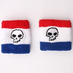 Напульсники  Sweat Bands Skull Red/White/Black Zero. Цвет: красный,белый,синий