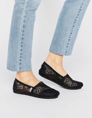 Toms Ажурные туфли Morocco. Цвет: черный