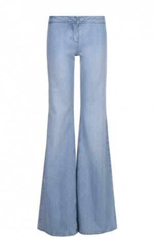 Расклешенные джинсы с карманами Balmain. Цвет: светло-голубой