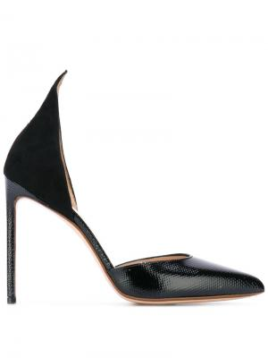 Туфли с заостренным носком Francesco Russo. Цвет: чёрный