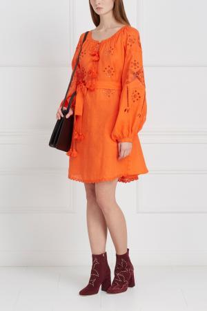 Платье из льна LINEN GARDENS Vita Kin. Цвет: оранжевый