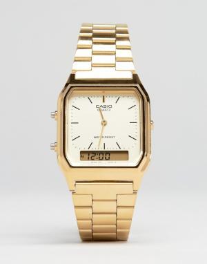 Casio Электронные часы-браслет AQ-230GA-9DMQYES. Цвет: золотой