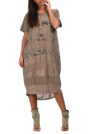 Платье Couleur lin. Цвет: коричневый