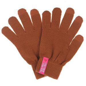 Перчатки  Touchgloves Brown TrueSpin. Цвет: коричневый