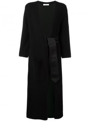 Трикотажное пальто с завязками Dorothee Schumacher. Цвет: чёрный