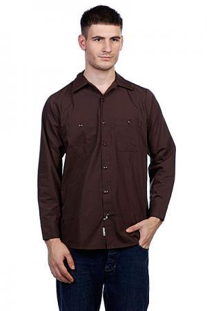 Рубашка  No Bs Button Up Chocolate Brown Independent. Цвет: коричневый