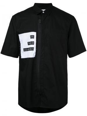 Рубашка на молнии спереди Public School. Цвет: чёрный