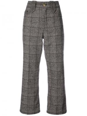Creased cropped plaid pants Marc Jacobs. Цвет: коричневый