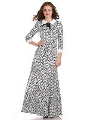 Платье OLIVEGREY. Цвет: белый, серо-зеленый