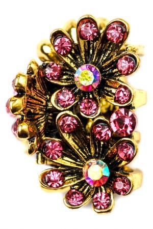 Винтажная заколка FRANSUA ARDY. Цвет: розовый