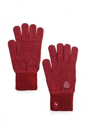 Перчатки Puma. Цвет: бордовый