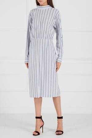 Платье-рубашка в полоску A LA RUSSE. Цвет: multicolor