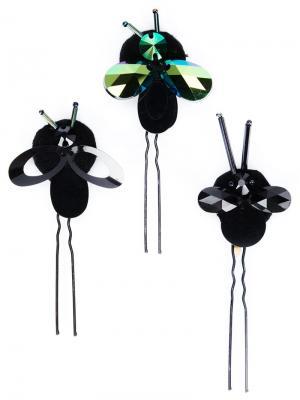 Шпильки в виде насекомых Piers Atkinson. Цвет: чёрный