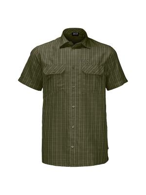 Рубашка THOMPSON SHIRT MEN Jack Wolfskin. Цвет: оливковый