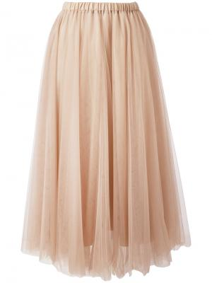 Elasticated waistband tulle skirt Rochas. Цвет: телесный