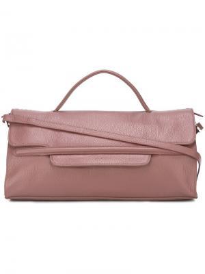 Маленькая сумка-тоут Zanellato. Цвет: розовый и фиолетовый