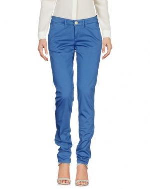 Повседневные брюки 0/ZERO CONSTRUCTION. Цвет: синий