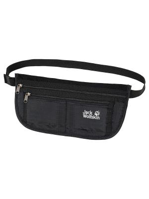 Сумка поясная DOCUMENT BELT DE LUXE Jack Wolfskin. Цвет: черный