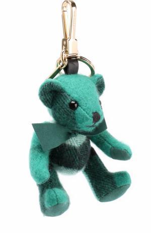 Брелок Thomas Bear из кашемира в клетку Burberry. Цвет: зеленый